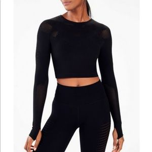 Fabletics Sarah sculpt knit tong sleeve top S